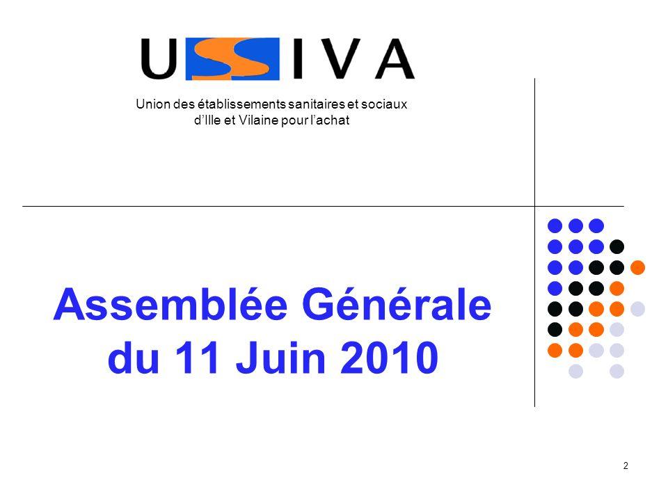 2 Assemblée Générale du 11 Juin 2010 Union des établissements sanitaires et sociaux dIlle et Vilaine pour lachat