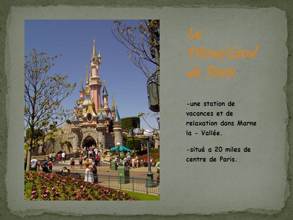-une station de vacances et de relaxation dans Marne la - Vallée. -situé a 20 miles de centre de Paris.