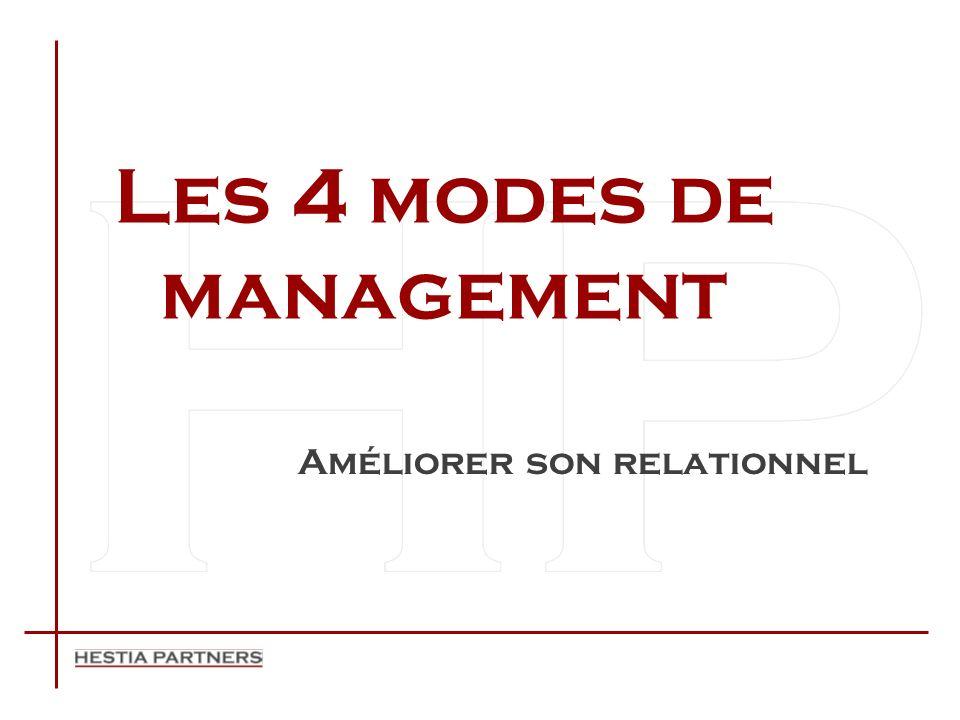 Les 4 modes de management Améliorer son relationnel