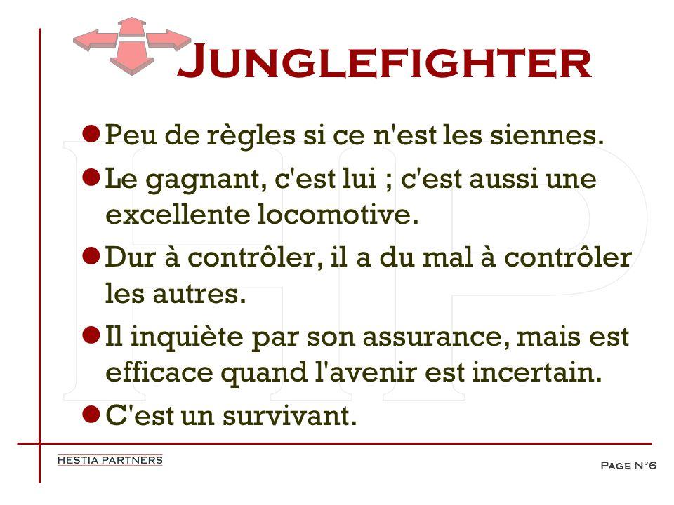 Page N°6 Junglefighter Peu de règles si ce n'est les siennes. Le gagnant, c'est lui ; c'est aussi une excellente locomotive. Dur à contrôler, il a du