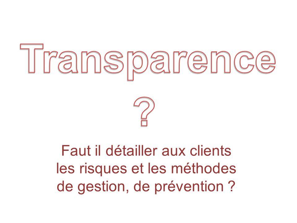 Quality Group directionPrivate label safety process Faut il détailler aux clients les risques et les méthodes de gestion, de prévention