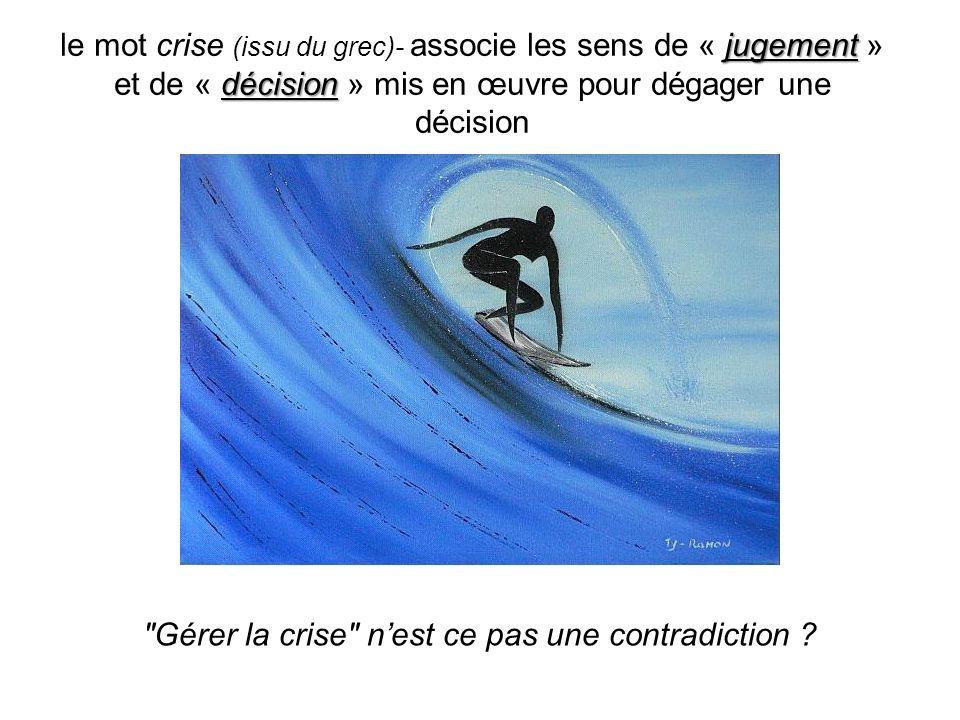 Quality Group directionPrivate label safety process jugement décision le mot crise (issu du grec)- associe les sens de « jugement » et de « décision »