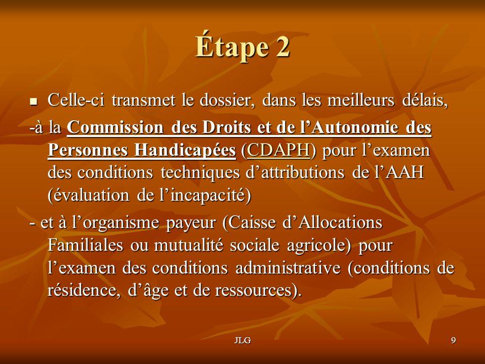 JLG9 Étape 2 Celle-ci transmet le dossier, dans les meilleurs délais, Celle-ci transmet le dossier, dans les meilleurs délais, -à la Commission des Dr
