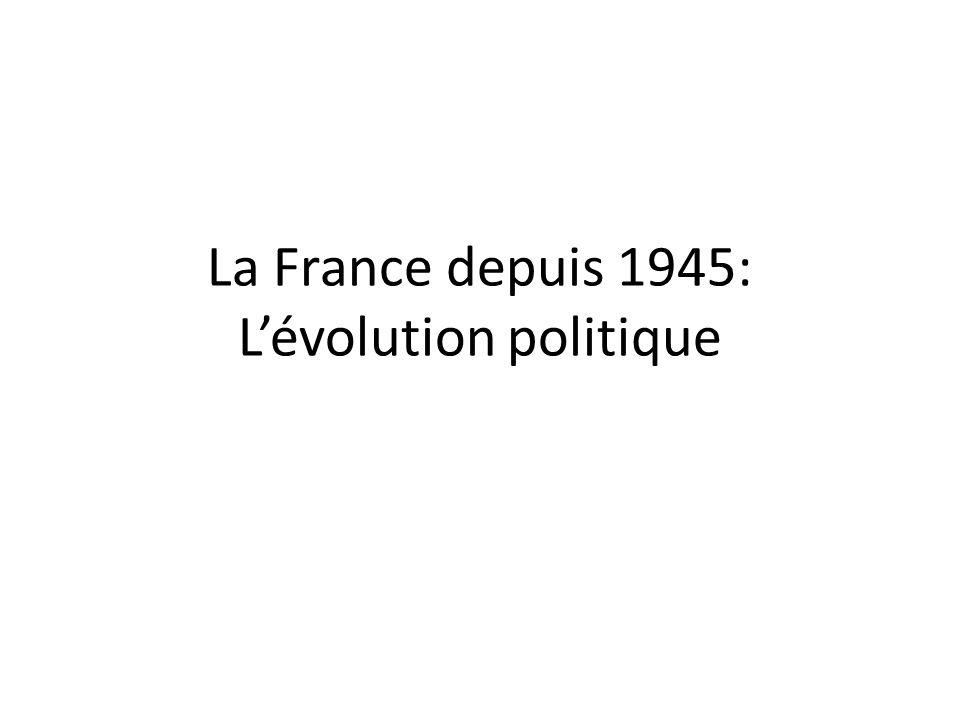 La France depuis 1945: Lévolution politique