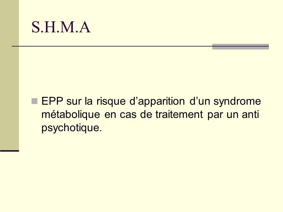 S.H.M.A EPP sur la risque dapparition dun syndrome métabolique en cas de traitement par un anti psychotique.