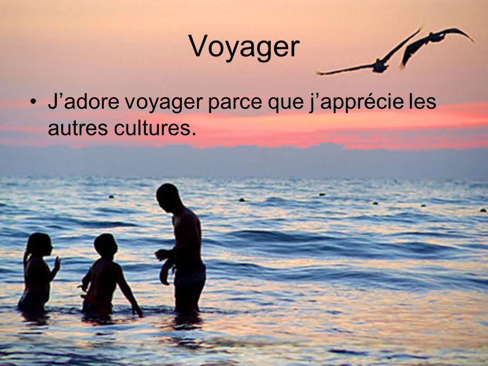 Voyager Jadore voyager parce que japprécie les autres cultures.