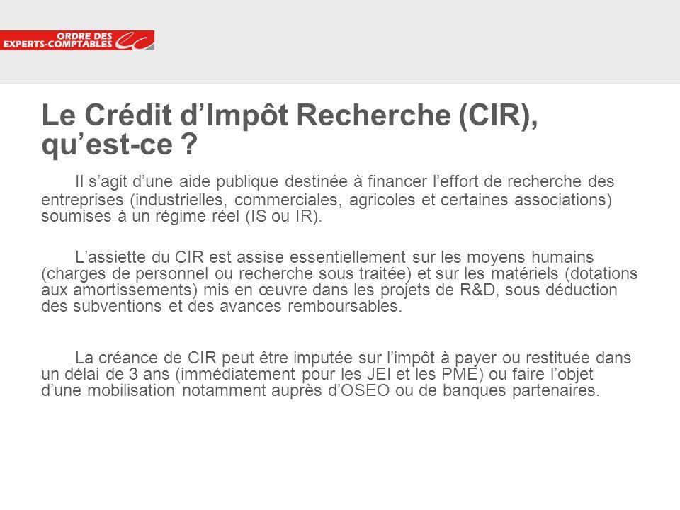 4 Le Crédit dImpôt Recherche (CIR), quest-ce ? Il sagit dune aide publique destinée à financer leffort de recherche des entreprises (industrielles, co