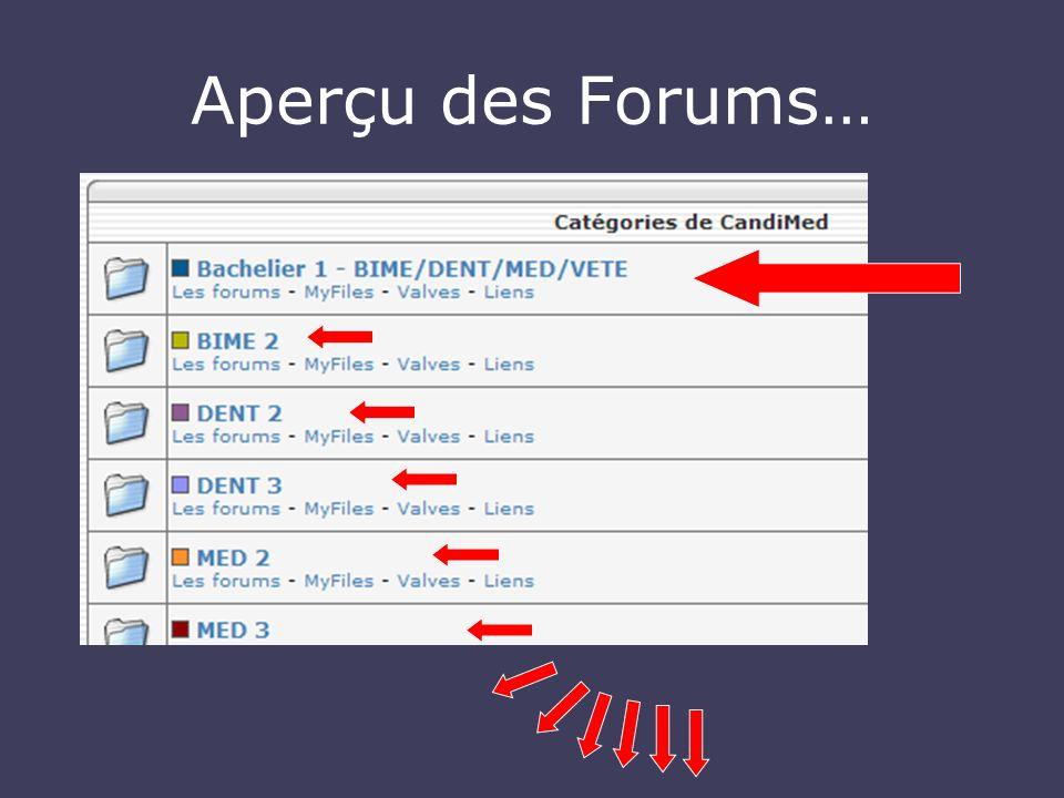 Aperçu des Forums…