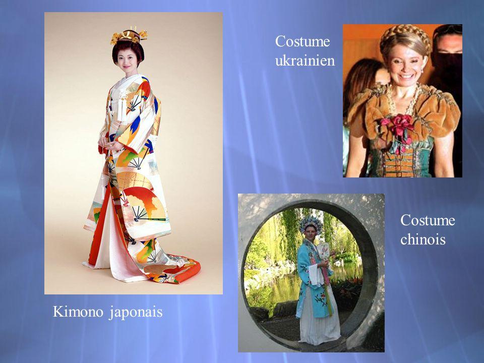 Costume ukrainien Kimono japonais Costume chinois