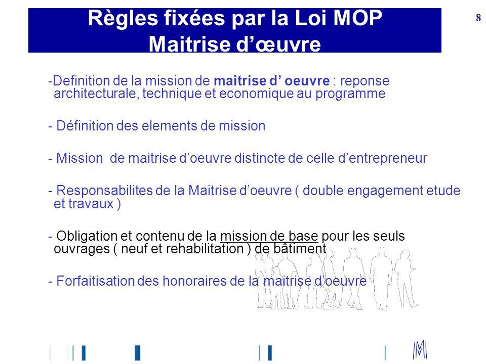 8 -Definition de la mission de maitrise d oeuvre : reponse architecturale, technique et economique au programme - Définition des elements de mission -