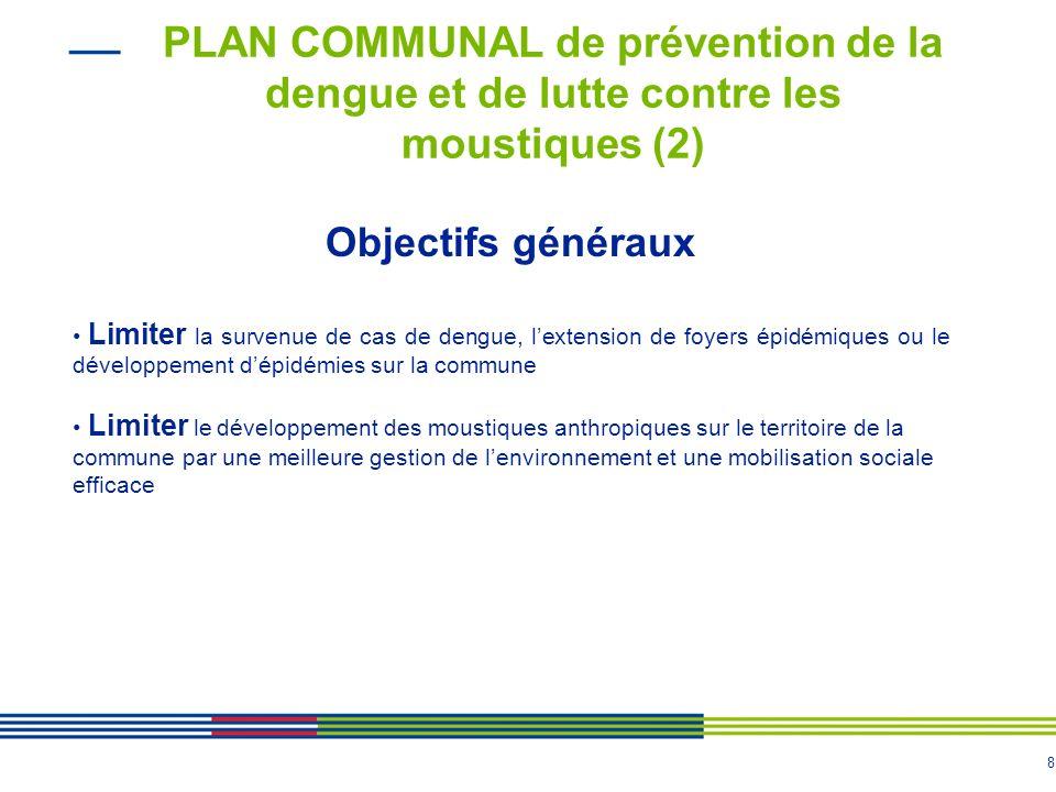 7 PLAN COMMUNAL de prévention de la dengue et de lutte contre les moustiques (1) > Les municipalités ont ainsi un rôle majeur dans le système de préve