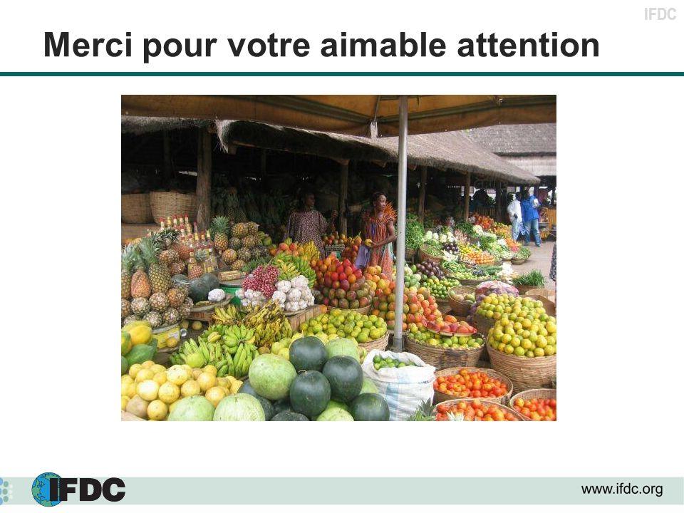 IFDC Merci pour votre aimable attention