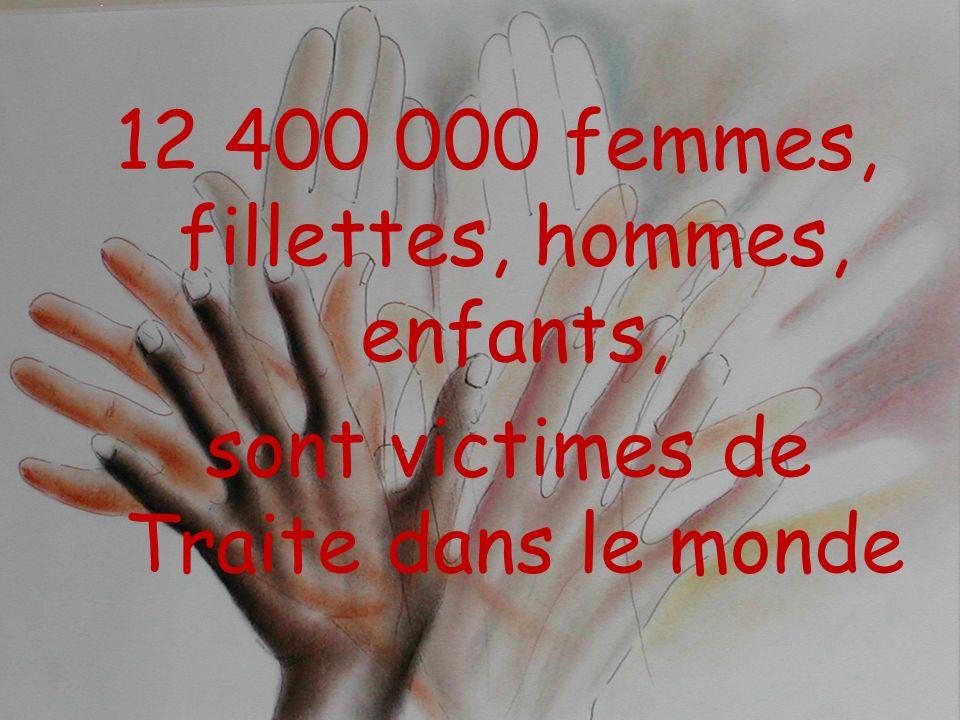 12 400 000 femmes, fillettes, hommes, enfants, sont victimes de Traite dans le monde