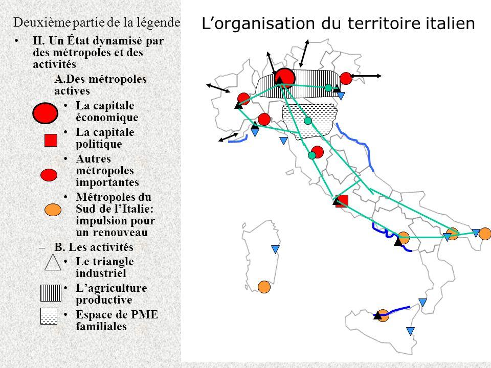 Deuxième partie de la légende II. Un État dynamisé par des métropoles et des activités –A.Des métropoles actives La capitale économique La capitale po