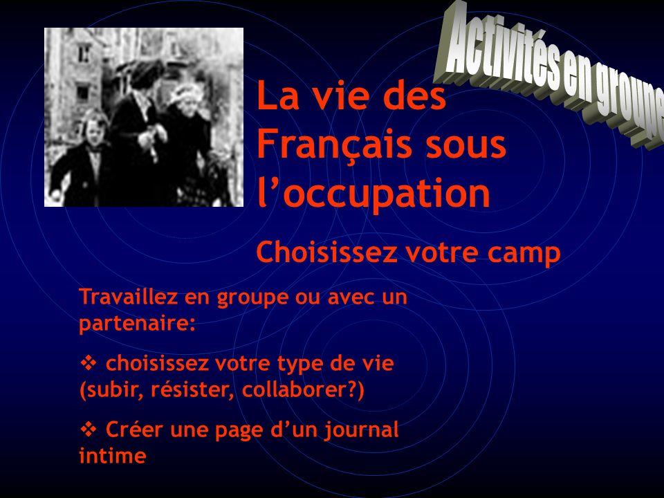 Conclusion: Une France divisée: oCollaborer activement avec lennemi oRésister oAccepter la situation et mener sa vie