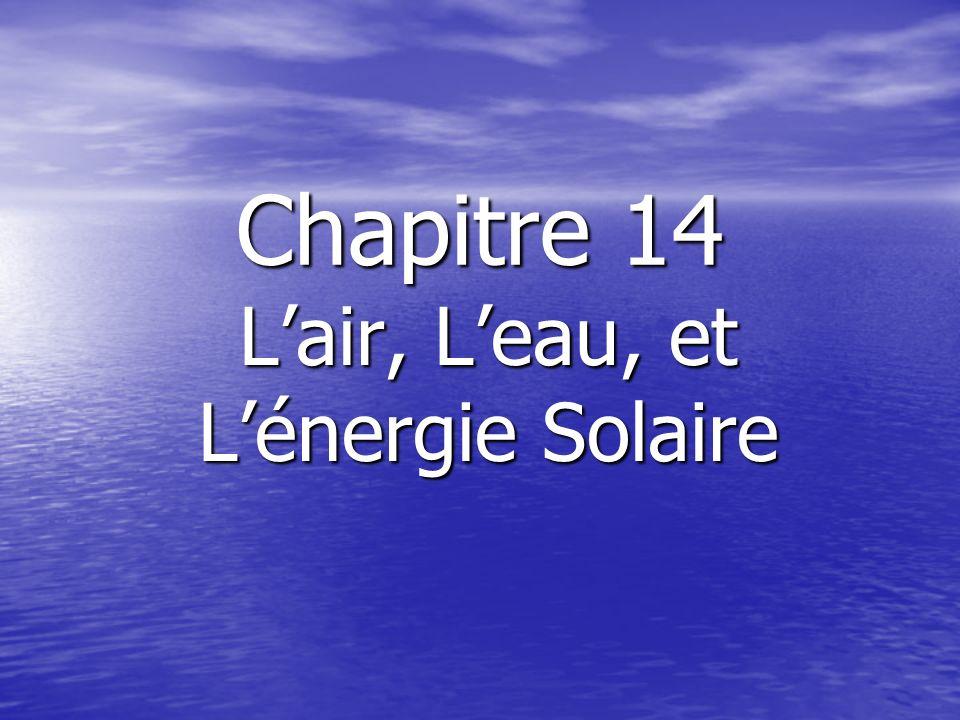 Chapitre 14 Lair, Leau, et Lénergie Solaire