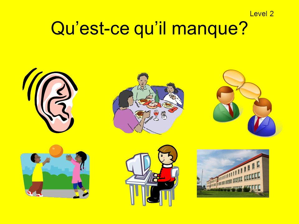 Quest-ce quil manque? Level 2