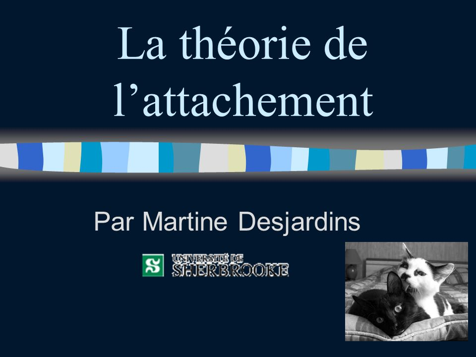 La théorie de lattachement Par Martine Desjardins