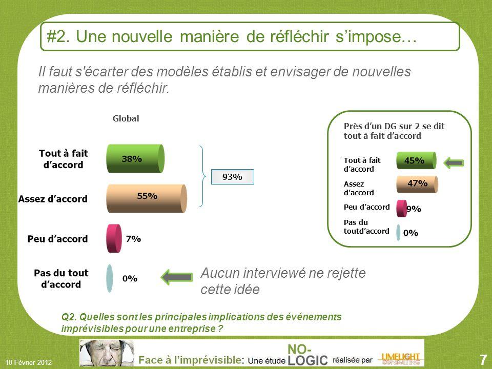 7 10 Février 2012 Global Il faut s écarter des modèles établis et envisager de nouvelles manières de réfléchir.