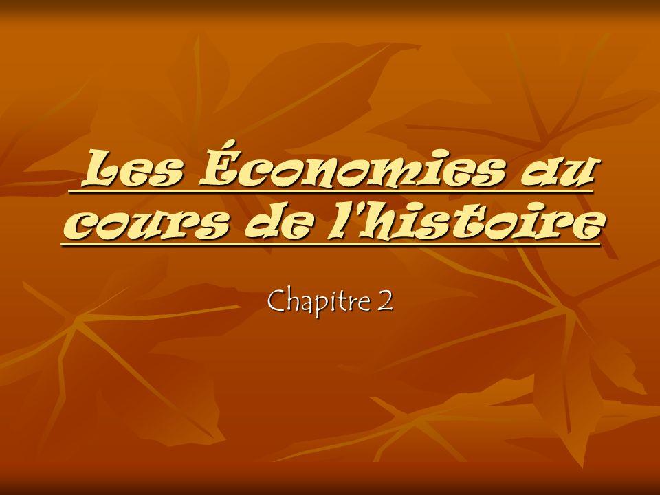 Les Économies au cours de l'histoire Les Économies au cours de l'histoire Chapitre 2