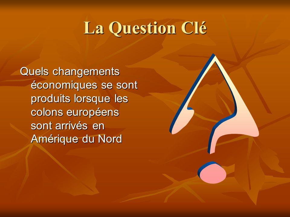 La Question Clé Quels changements économiques se sont produits lorsque les colons européens sont arrivés en Amérique du Nord