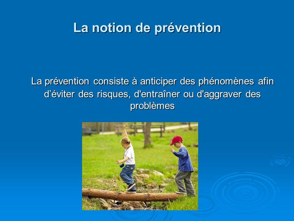 La résilience La notion de prévention : - facteurs de risque - facteurs de protection -