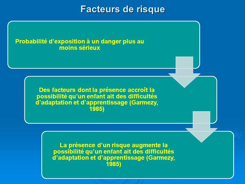 La résilience chez lenfant Défini comme lhabileté de lenfant à sajuster adéquatement ou à vaincre les difficultés, malgré les risques et ladversité. C