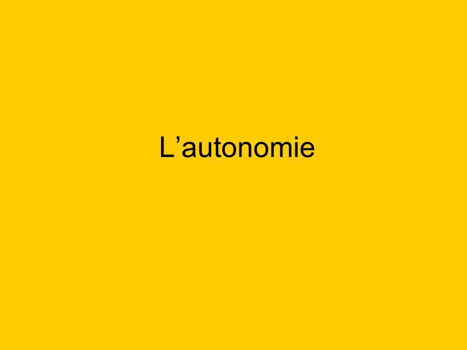 Résultats dapprentissage 1.Définir le concept de lautonomie.