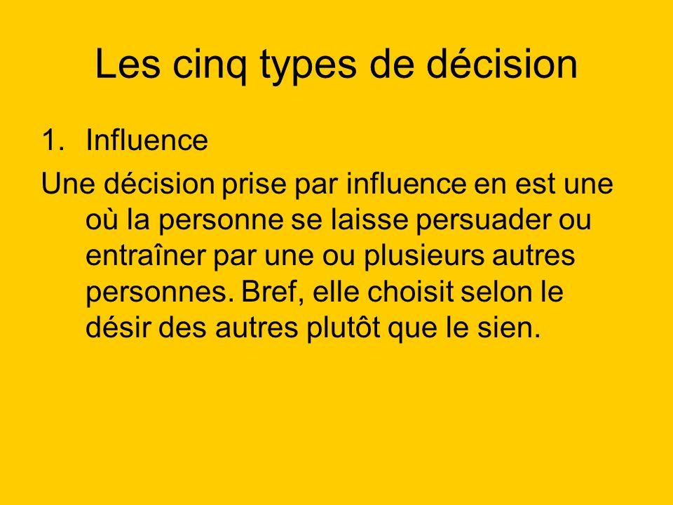 Les cinq types de décision 2.