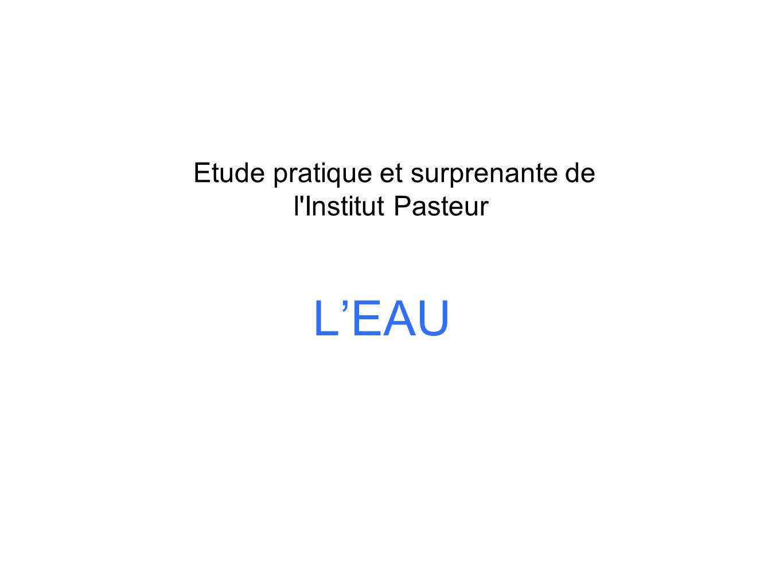 LEAU Etude pratique et surprenante de l'Institut Pasteur