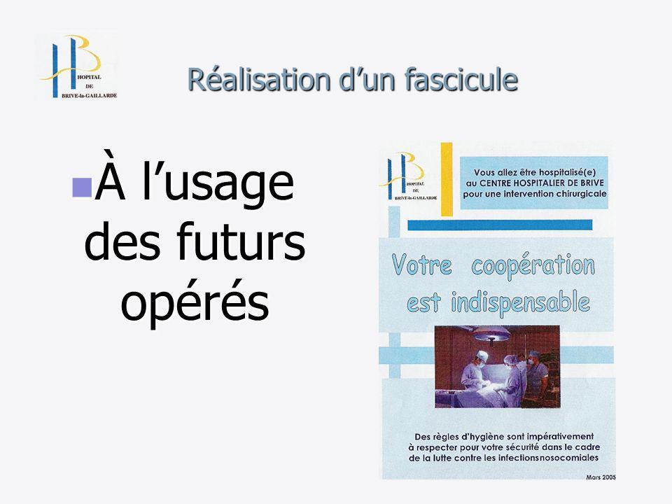 Réalisation dun fascicule À lusage des futurs opérés À lusage des futurs opérés