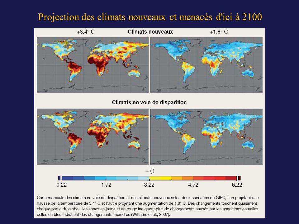 Projection des climats nouveaux et menacés d'ici à 2100 Département dhydraulique – FSI - UABB 2008 - 2009