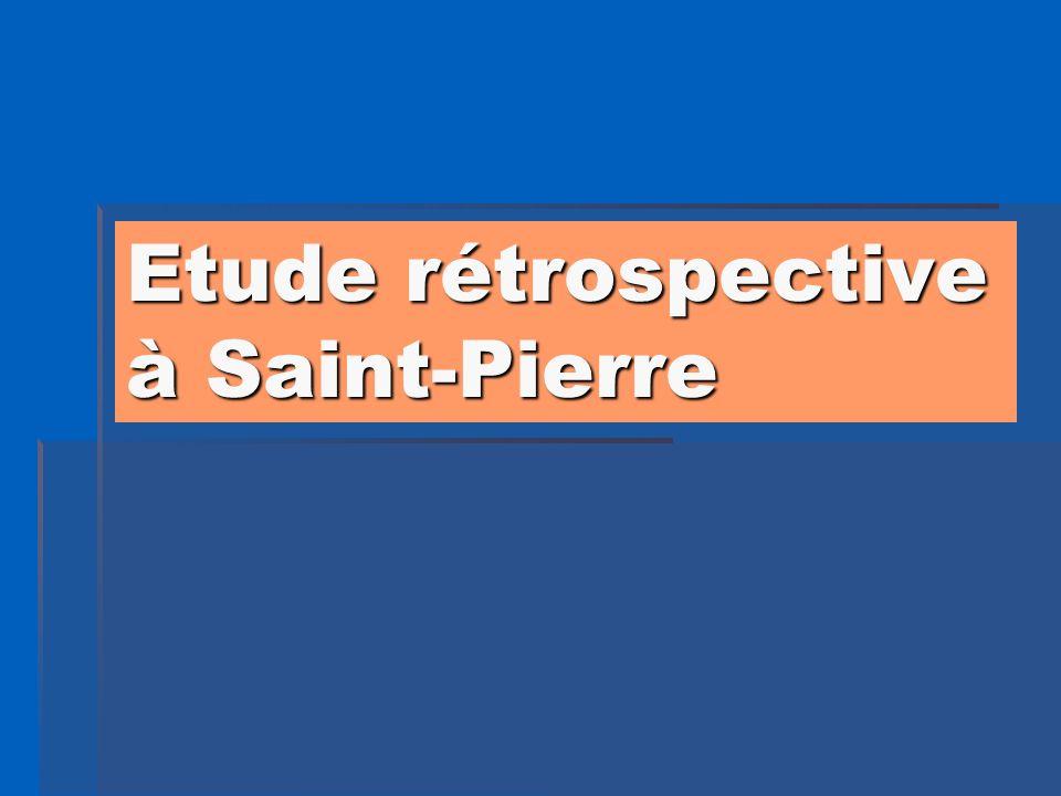 Etude rétrospective à Saint-Pierre