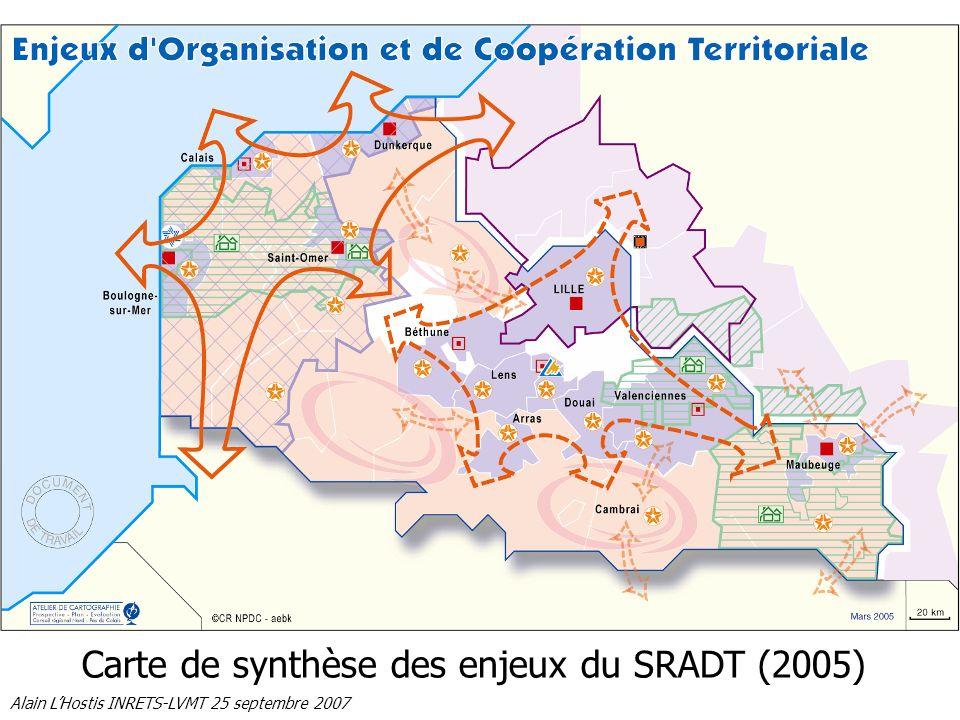 Carte de synthèse des enjeux du SRADT (2005)