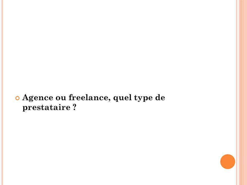 Agence ou freelance, quel type de prestataire