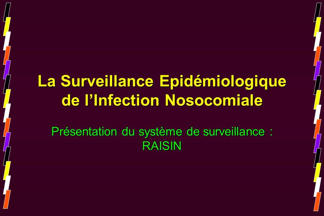 La Surveillance Epidémiologique de lInfection Nosocomiale Présentation du système de surveillance : RAISIN