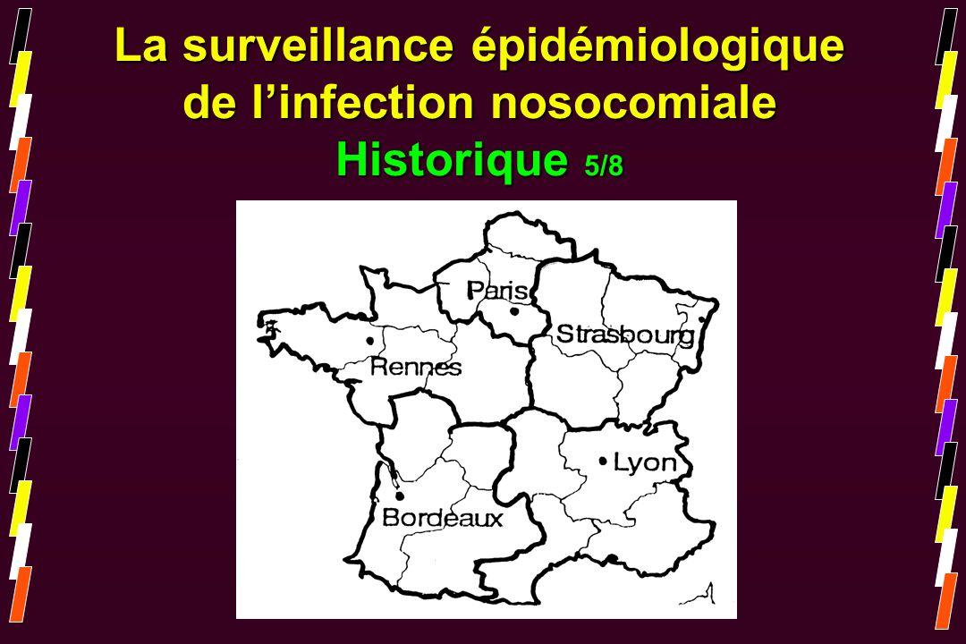 La surveillance épidémiologique de linfection nosocomiale Historique 5/8