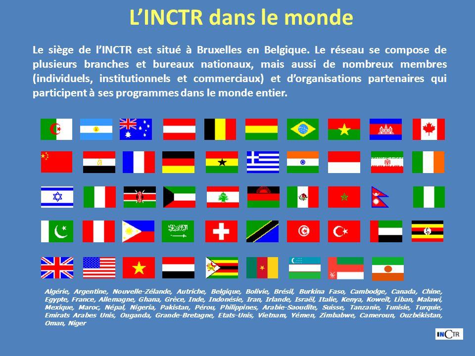 Le siège de lINCTR est situé à Bruxelles en Belgique. Le réseau se compose de plusieurs branches et bureaux nationaux, mais aussi de nombreux membres