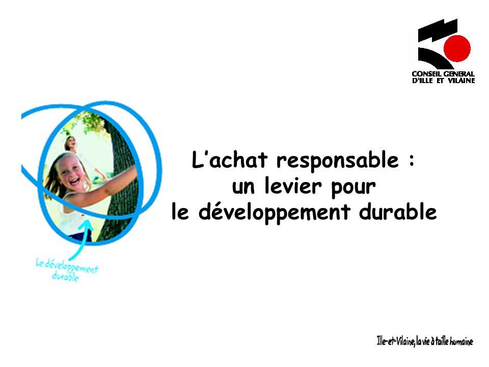 Lachat responsable : un levier pour le développement durable