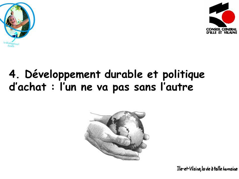 4. Développement durable et politique dachat : lun ne va pas sans lautre