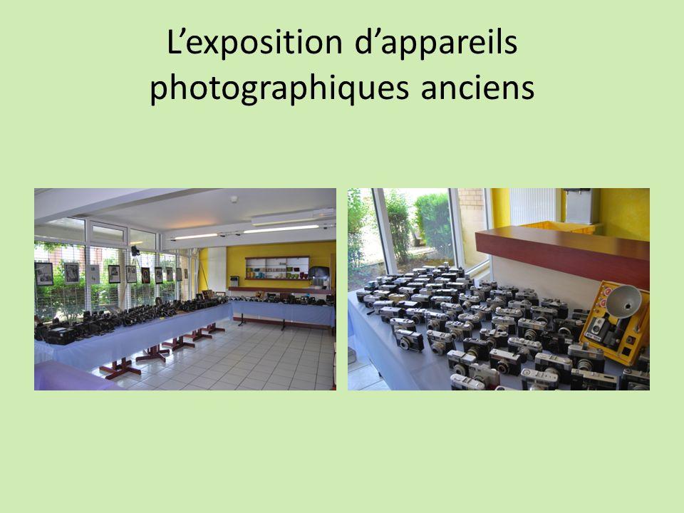 Lexposition dappareils photographiques anciens