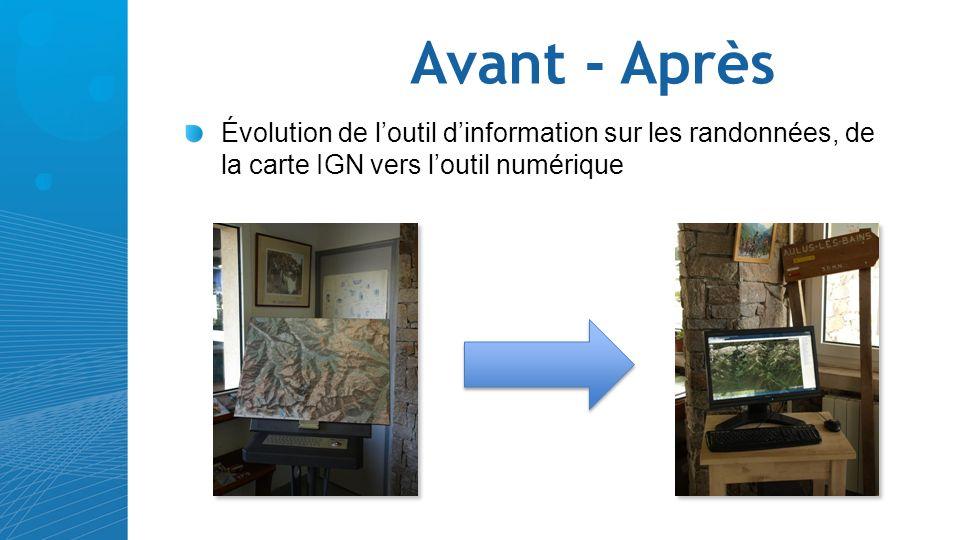 Avant - Après Évolution de loutil dinformation sur les randonnées, de la carte IGN vers loutil numérique