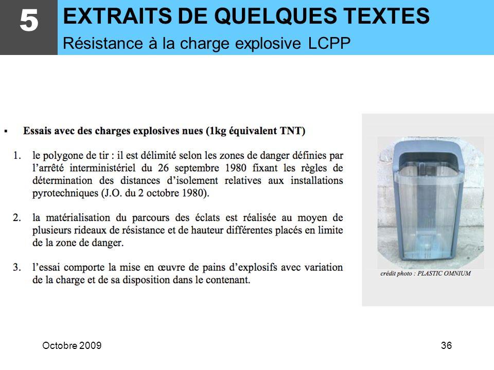 Octobre 200935 5 EXTRAITS DE QUELQUES TEXTES Euroclass Feu et Classement M