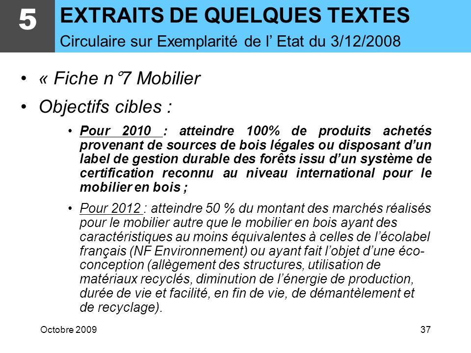 Octobre 200936 5 EXTRAITS DE QUELQUES TEXTES Résistance à la charge explosive LCPP