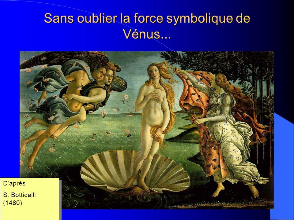 Sans oublier la force symbolique de Vénus... Daprès S.