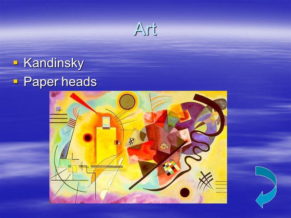 Art Kandinsky Kandinsky Paper heads Paper heads