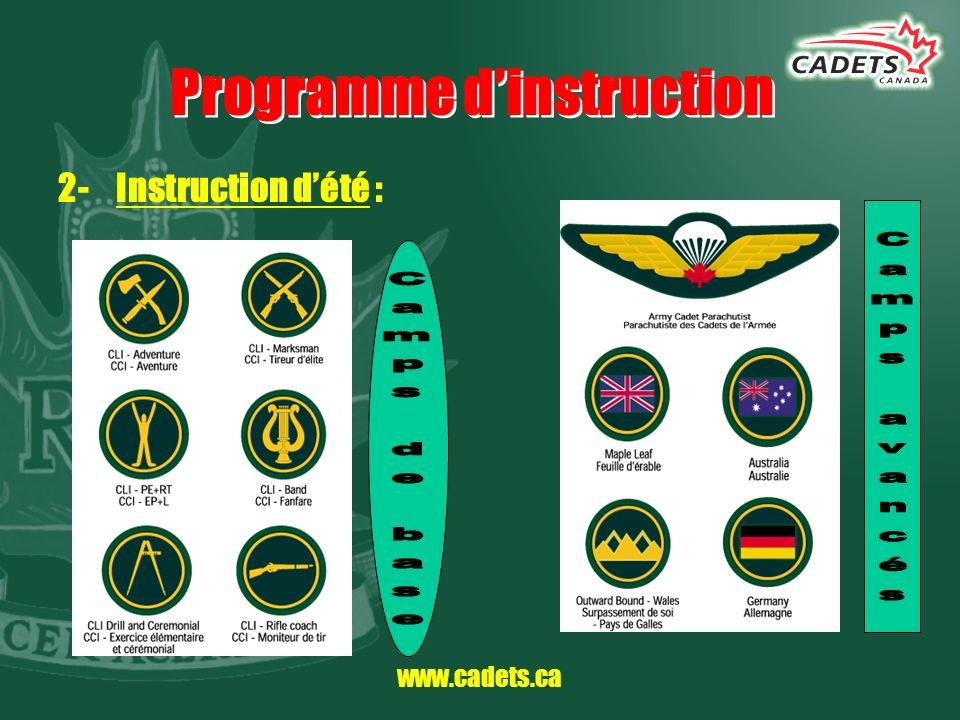 www.cadets.ca Coûts COMPLÈTEMENT GRATUIT !!!!!!!