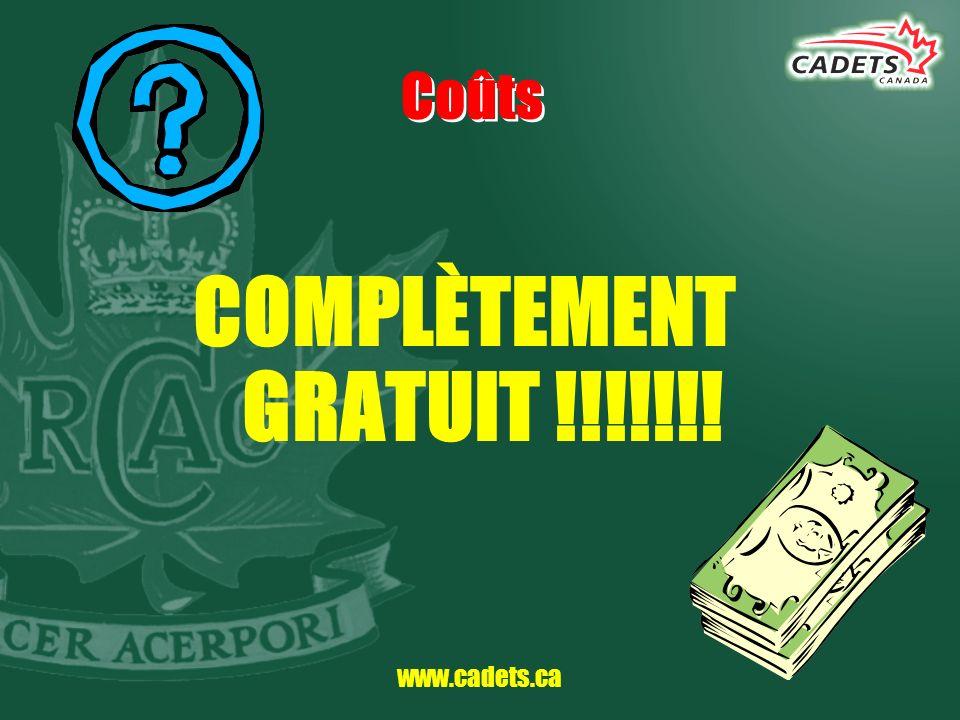 www.cadets.ca Nos coordonnées Centre communautaire Boileau 7100 boul.