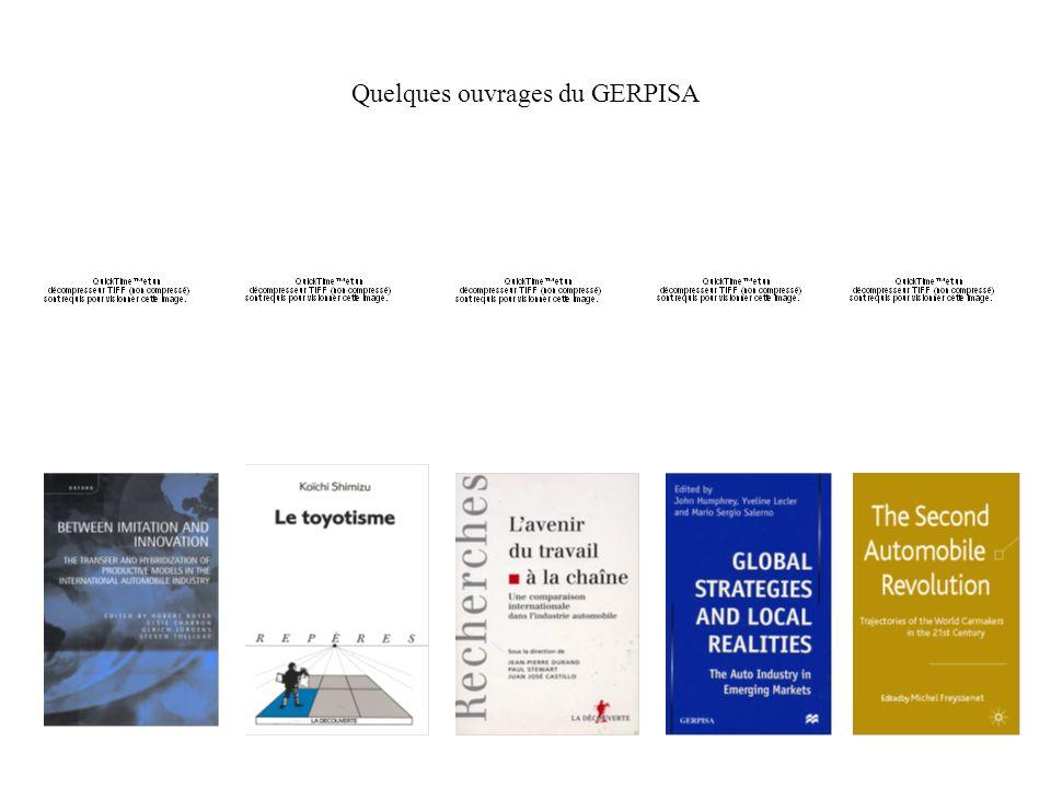 Quelques ouvrages du GERPISA