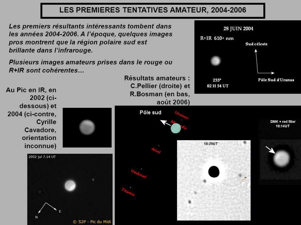 LES PREMIERES TENTATIVES AMATEUR, 2004-2006 Les premiers résultants intéressants tombent dans les années 2004-2006. A lépoque, quelques images pros mo